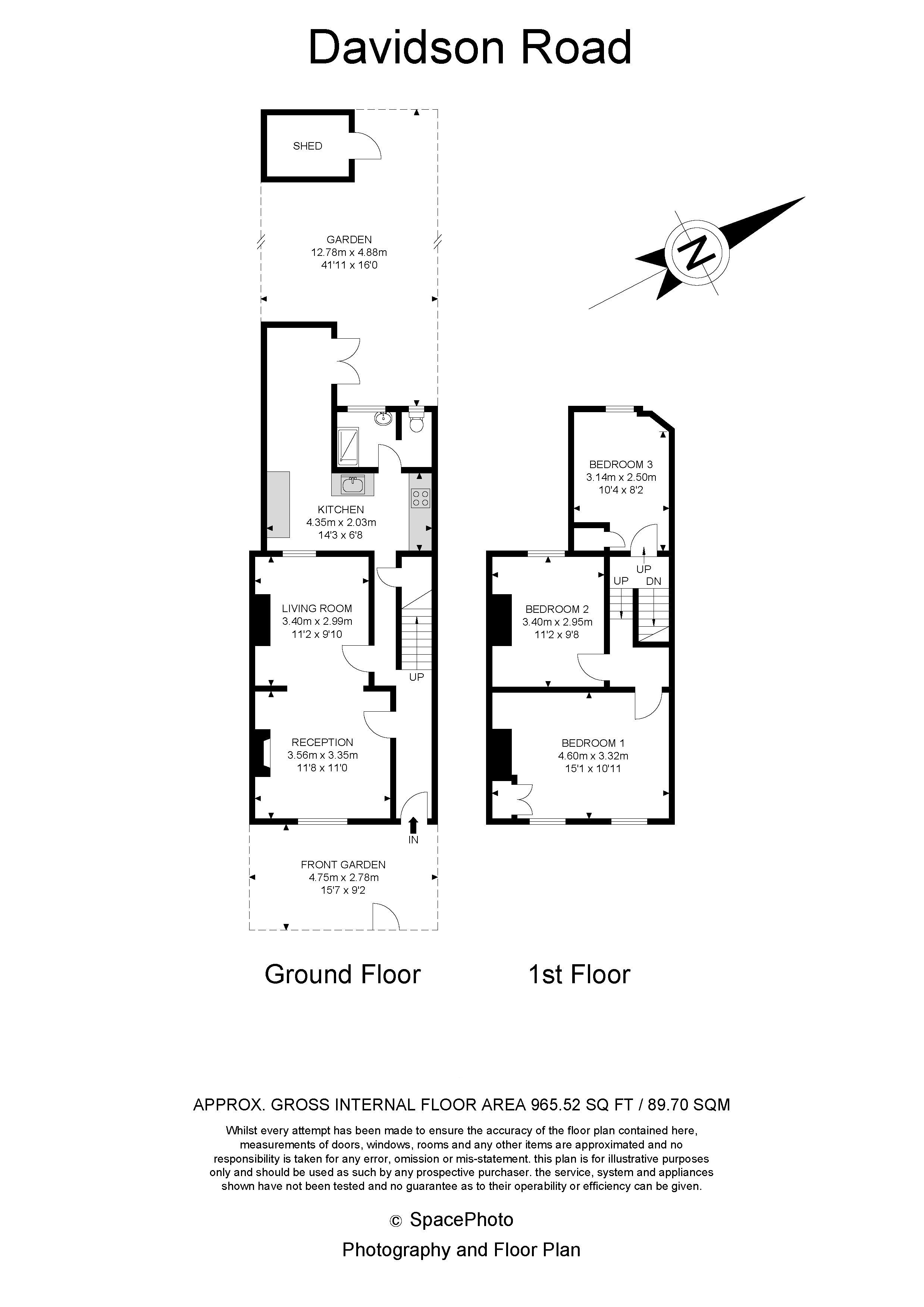 3 bed house to rent in Davidson Road - Property Floorplan