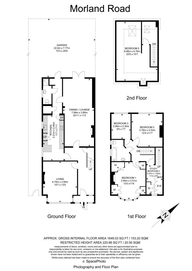 4 bed house for sale in Morland Road - Property Floorplan