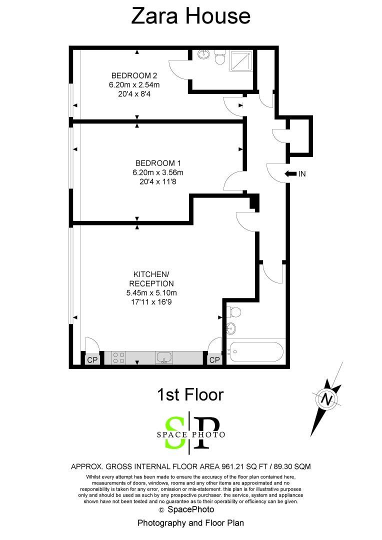 2 bed flat for sale in London Road - Property Floorplan