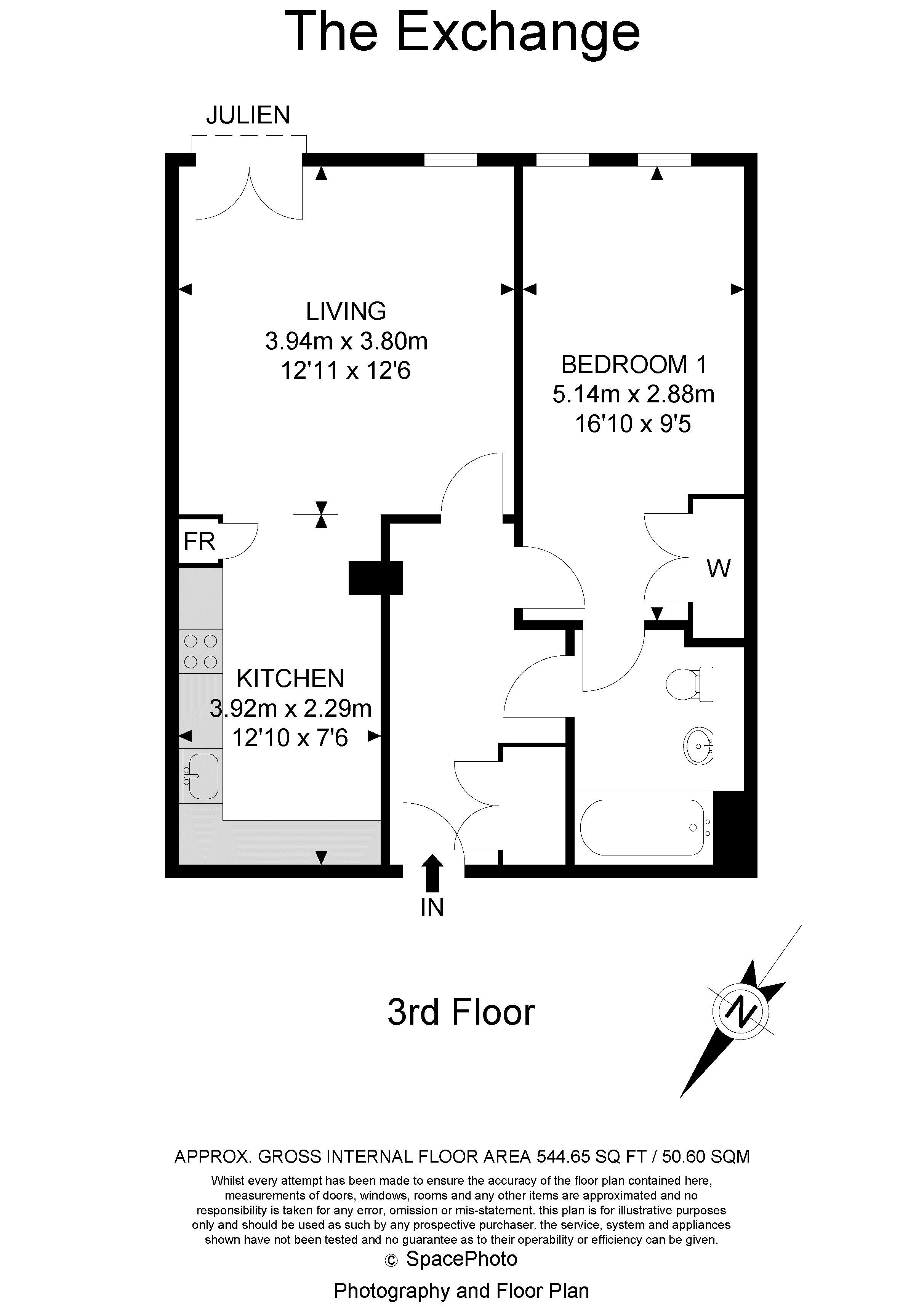 1 bed flat for sale in 6 Scarbrook Road - Property Floorplan