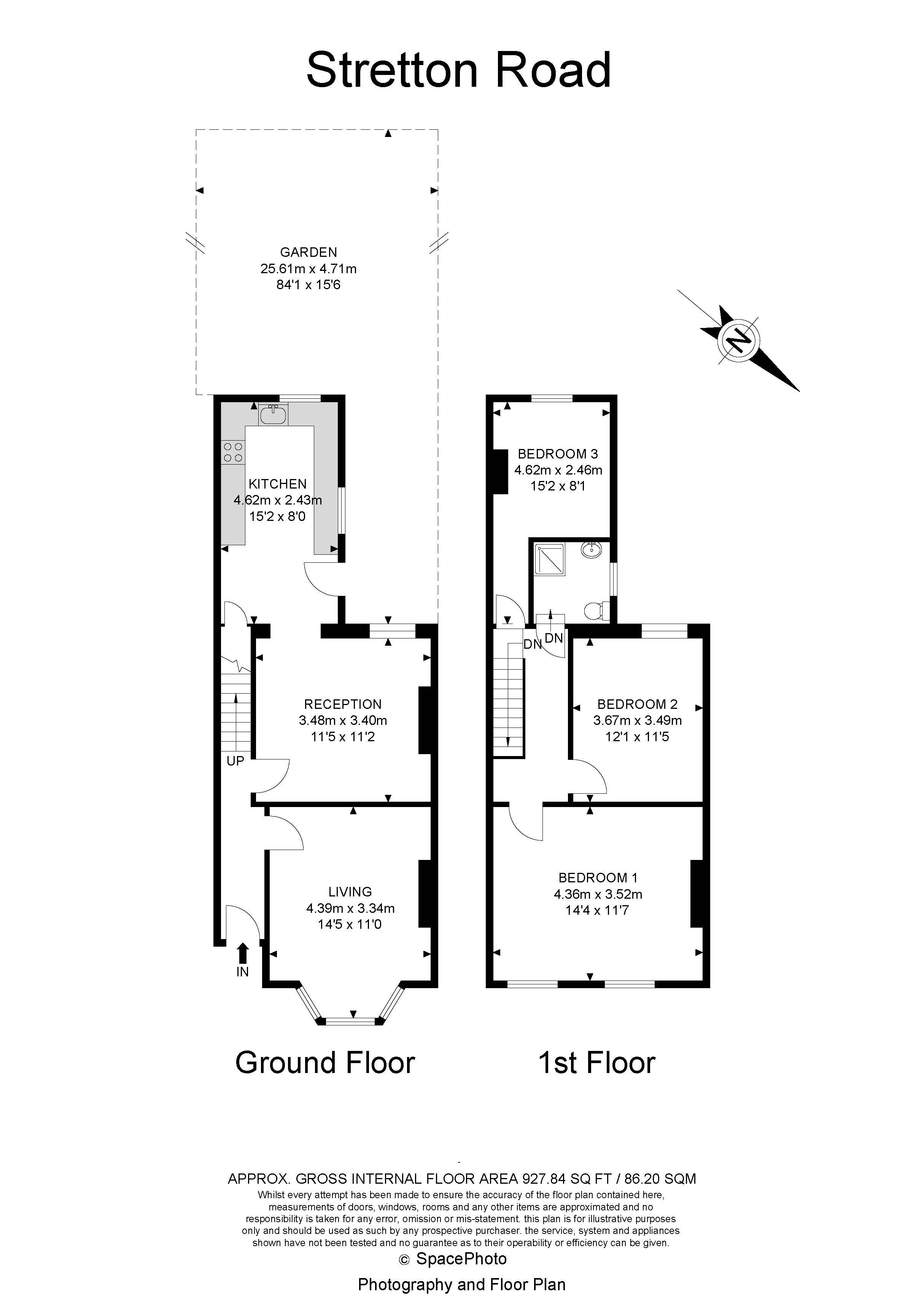 3 bed house to rent in Stretton Road - Property Floorplan