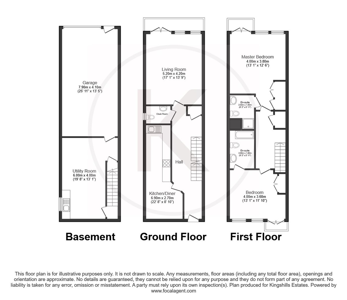 2 bed house for sale in De Havilland Drive, Hazlemere - Property Floorplan