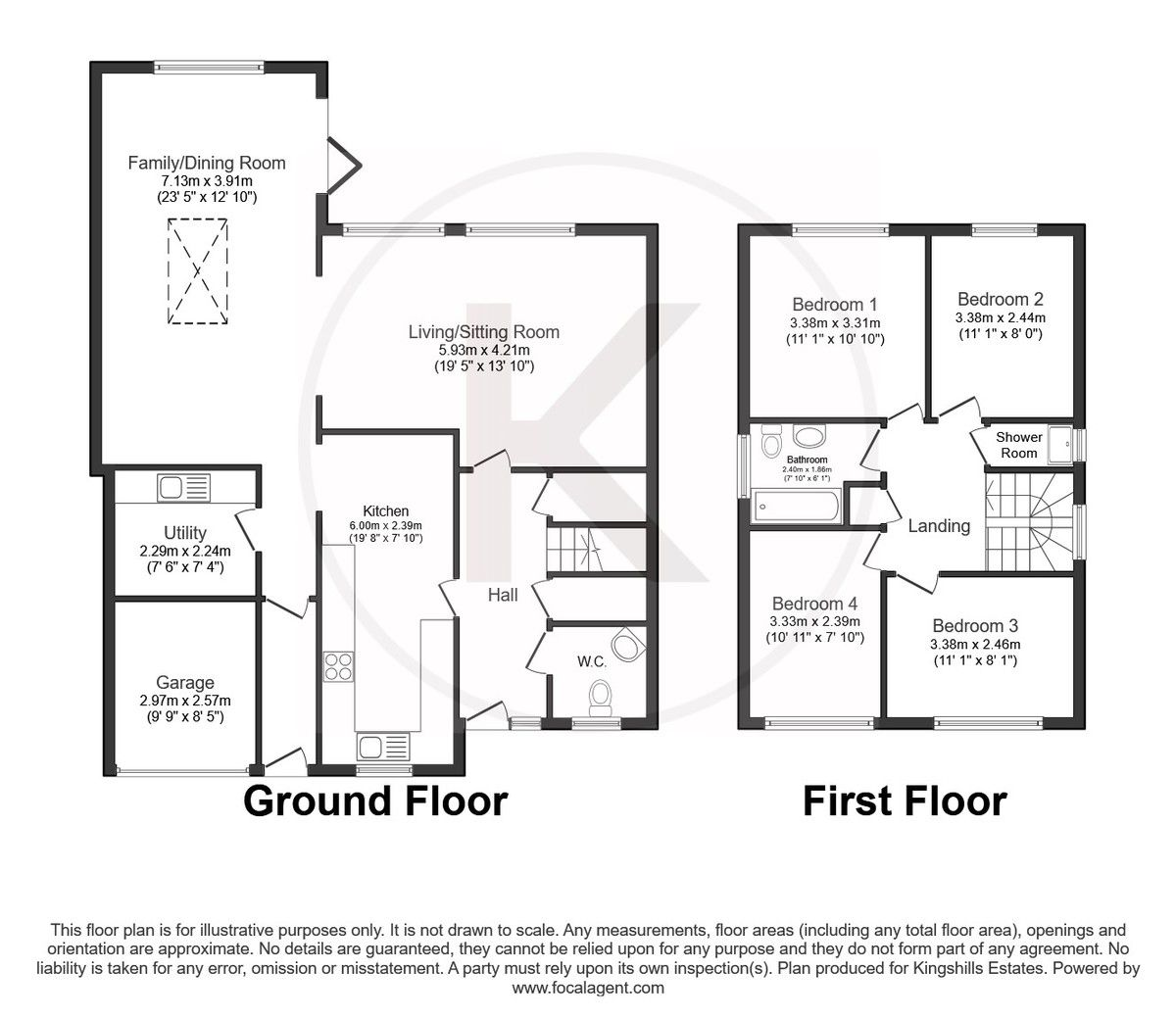 4 bed house for sale in Hillcroft Road, Penn - Property Floorplan