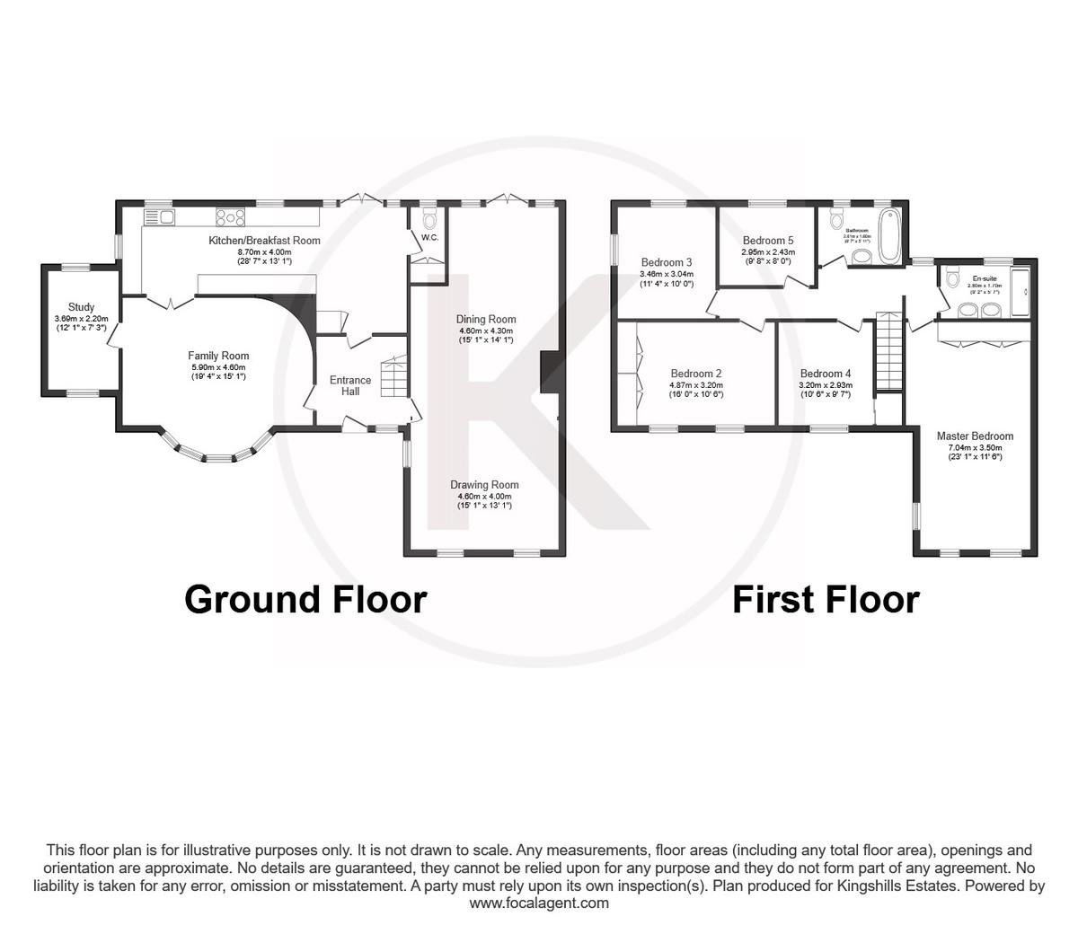 5 bed house for sale in Woodside Avenue, Beaconsfield - Property Floorplan