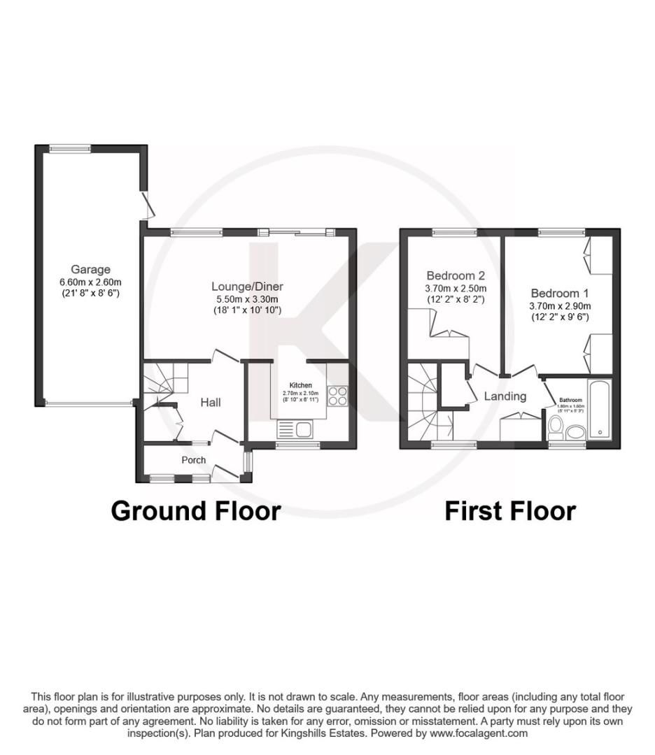 2 bed house for sale in Meredith Drive, Aylesbury - Property Floorplan