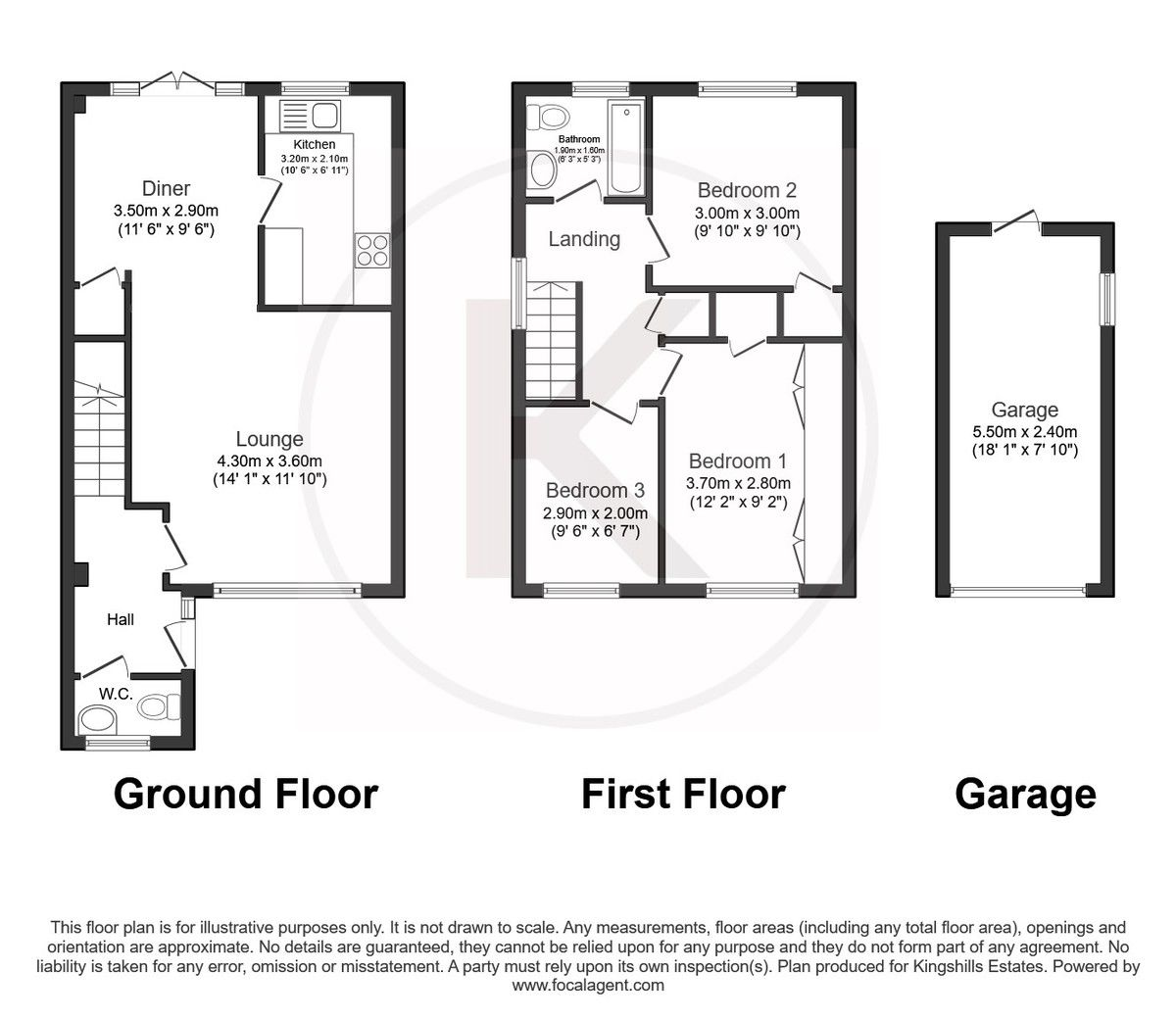 3 bed house for sale in Wrights Lane, Prestwood, Great Missenden - Property Floorplan