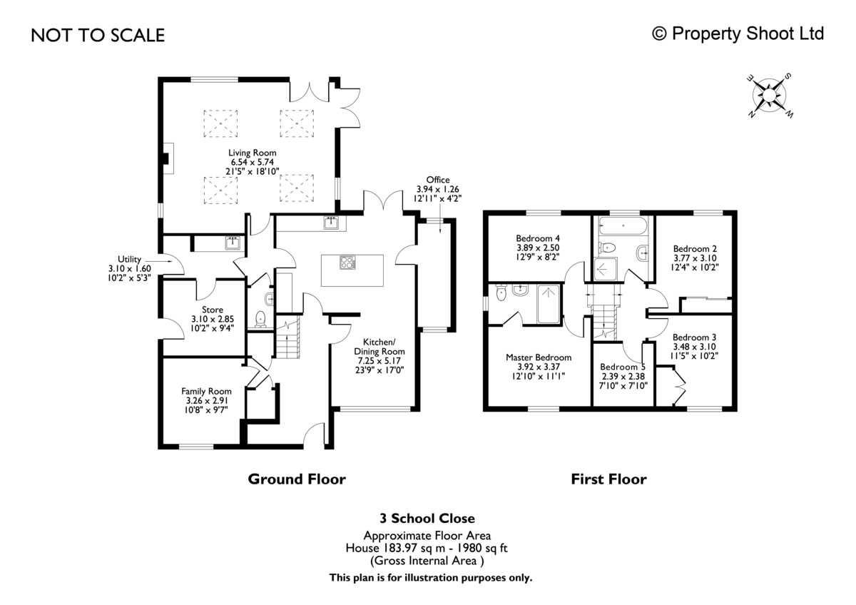5 bed house for sale in Holmer Green - Property Floorplan