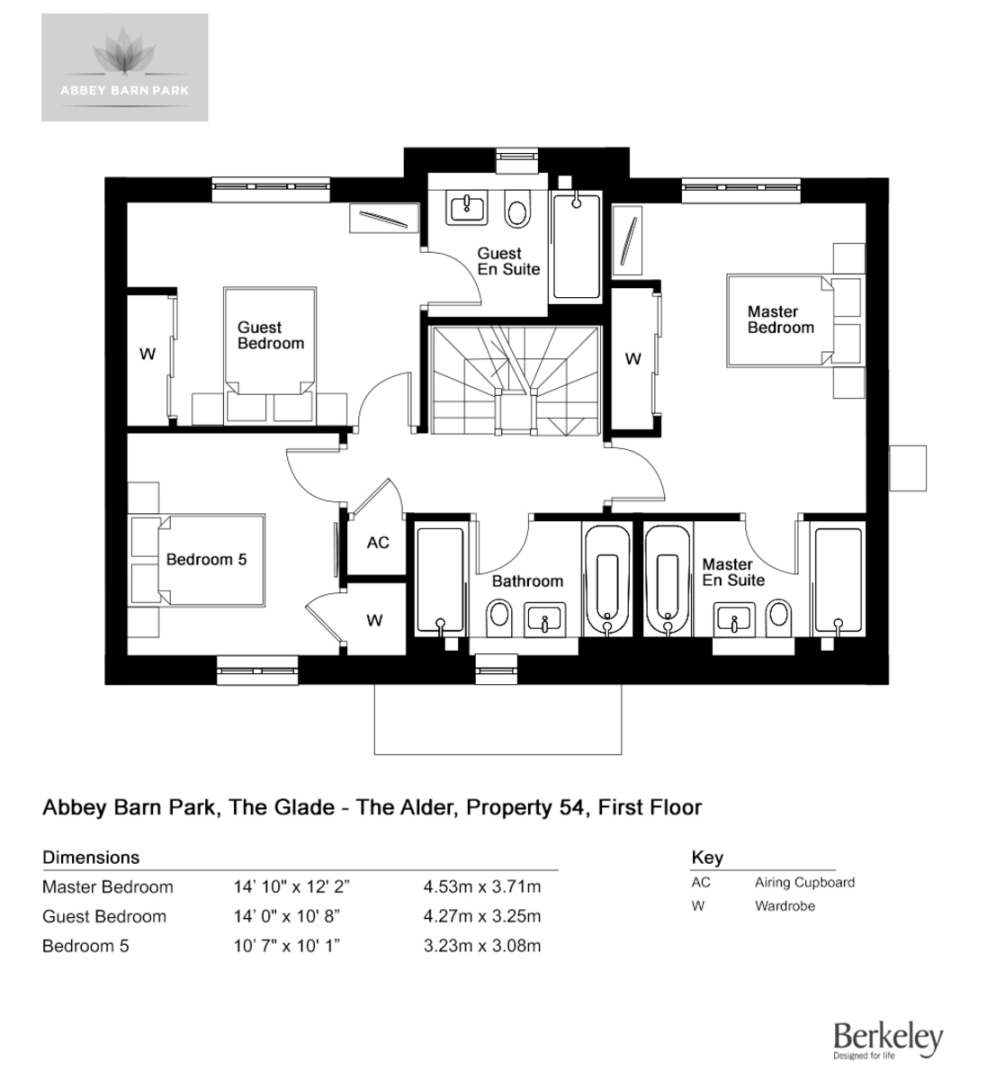 5 bed house for sale in The Alder, Abbey Barn Park - Property Floorplan
