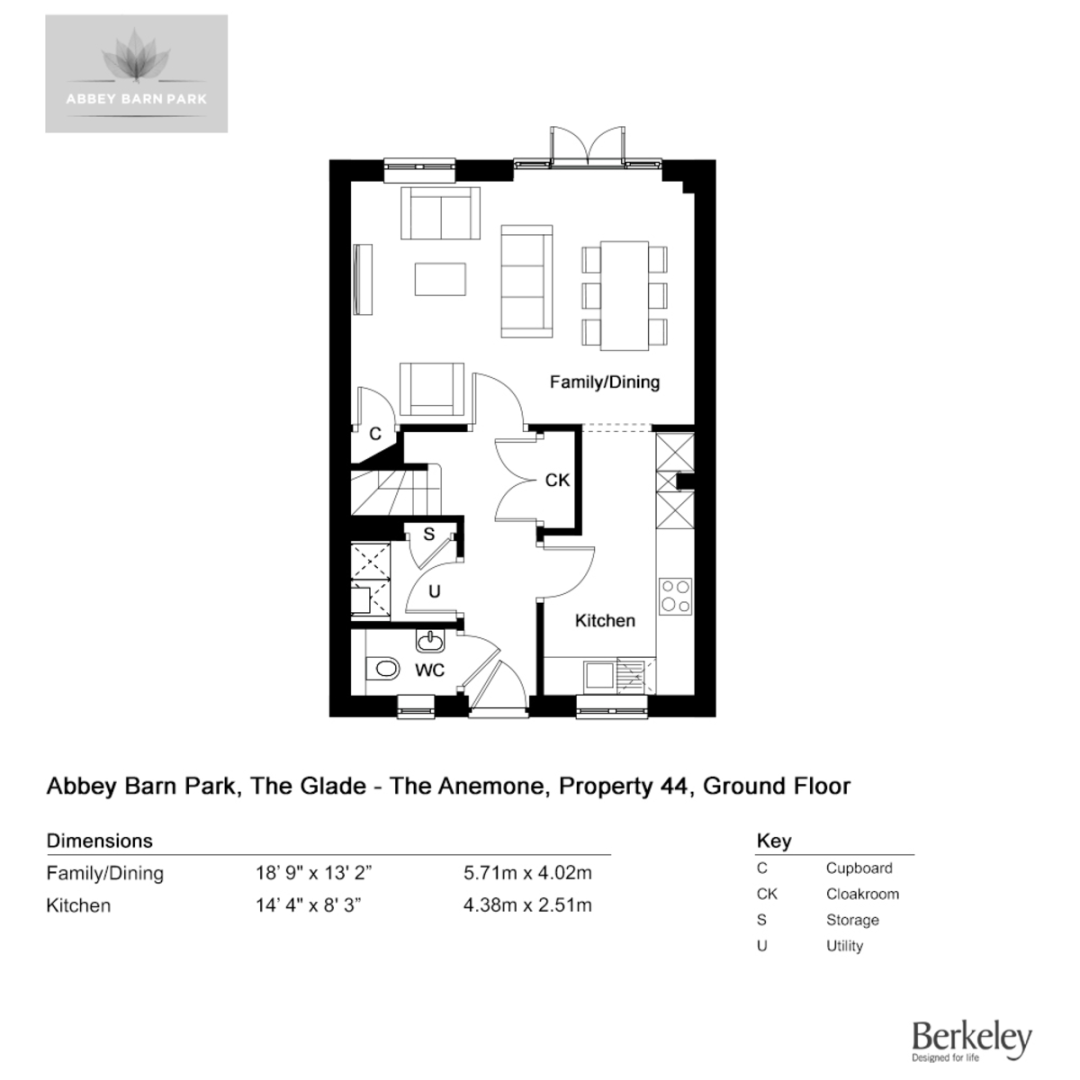 3 bed house for sale in The Anemone, Abbey Barn Park - Property Floorplan