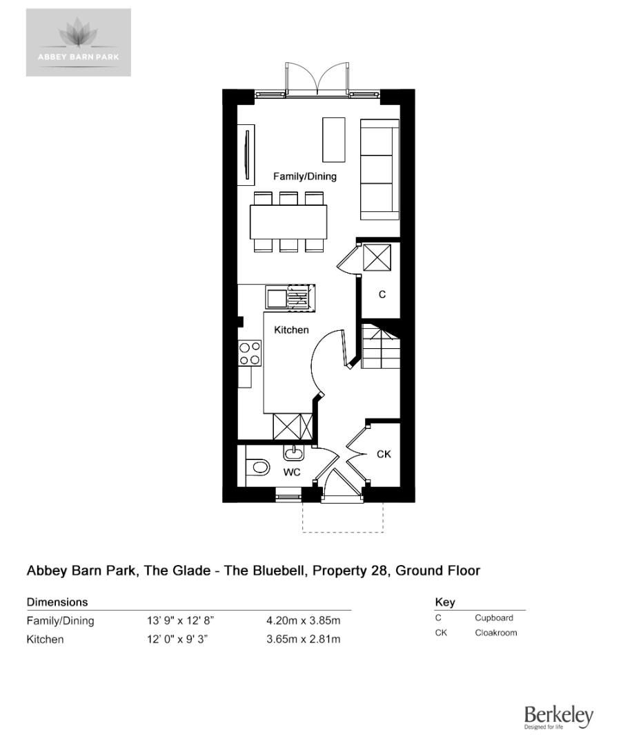 3 bed house for sale in The Bluebell, Abbey Barn Park - Property Floorplan