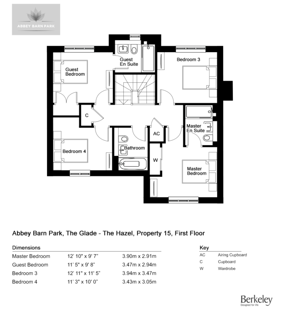 4 bed house for sale in The Elm, Abbey Barn Park - Property Floorplan