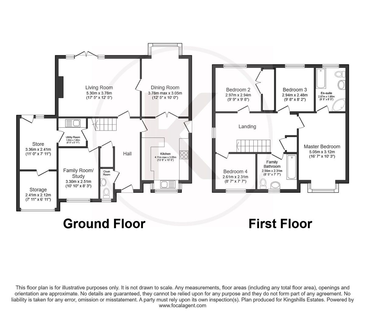 4 bed house for sale in Burrows Close, Penn - Property Floorplan