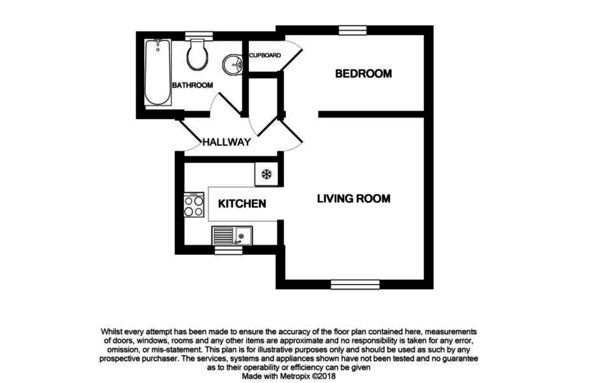 1 bed flat for sale in Gandon Vale, High Wycombe - Property Floorplan
