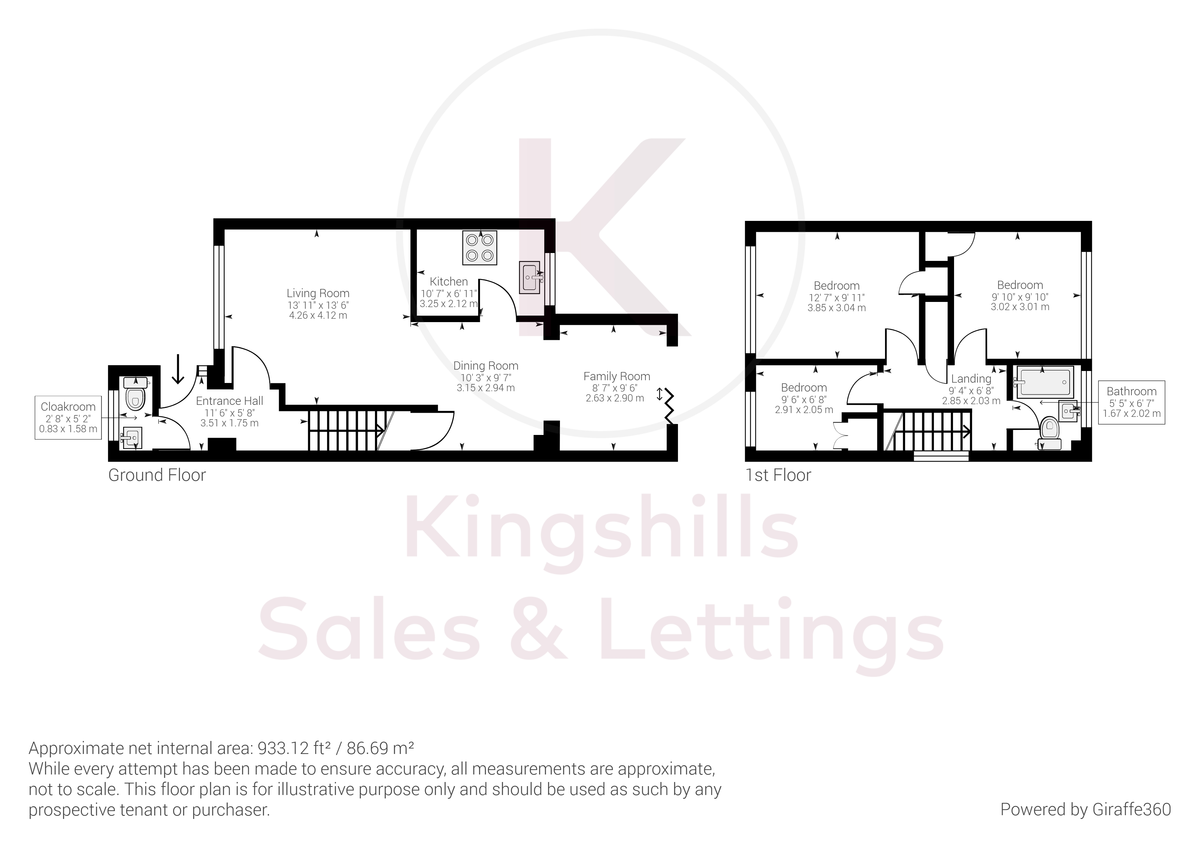 3 bed house for sale in Wrights Lane, Prestwood - Property Floorplan