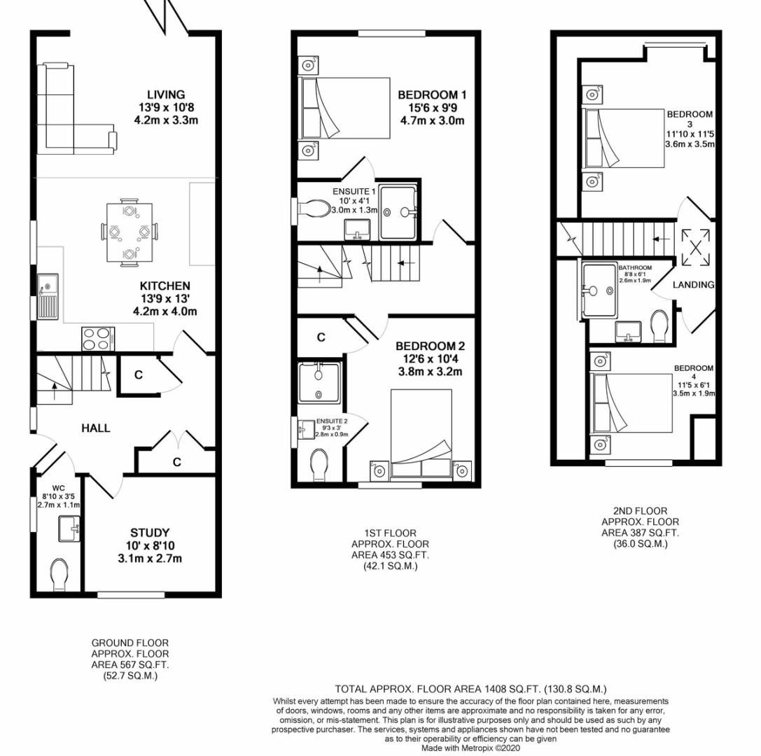 4 bed house for sale in Amersham Road, High Wycombe - Property Floorplan