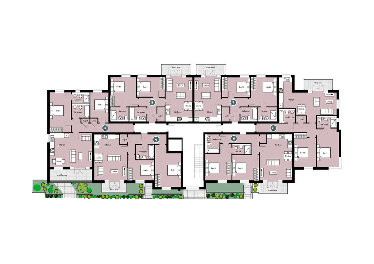 2 bed flat for sale in Pavilion Court, High Wycombe - Property Floorplan