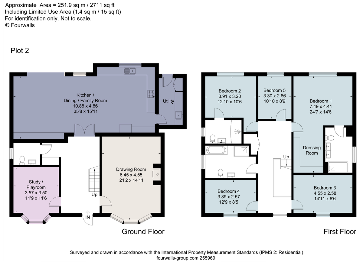 5 bed house for sale - Property Floorplan