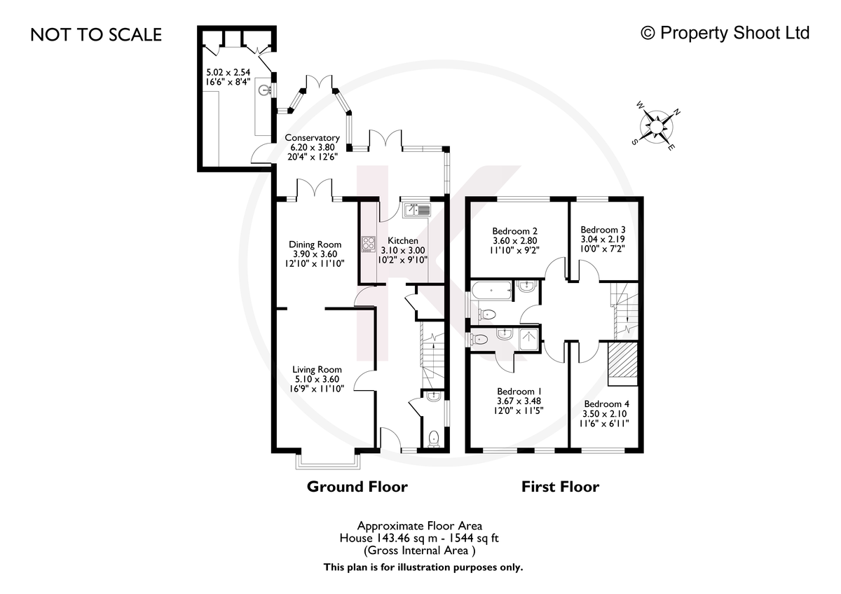 4 bed house for sale in Briarswood, Hazlemere, High Wycombe - Property Floorplan