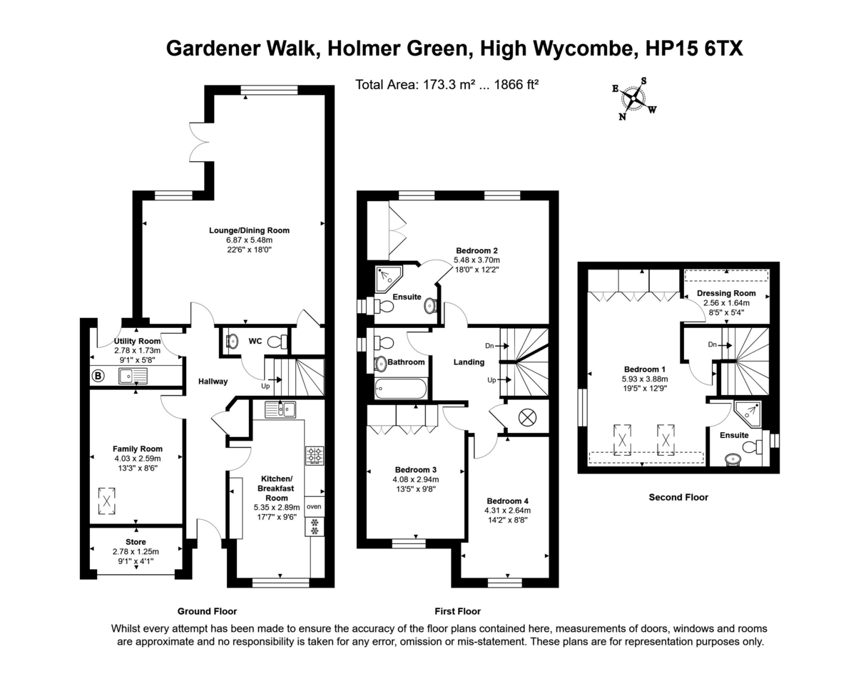4 bed house for sale in Holmer Green, High Wycombe - Property Floorplan