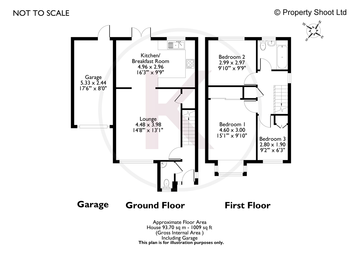 3 bed house for sale in Briarswood, Hazlemere - Property Floorplan