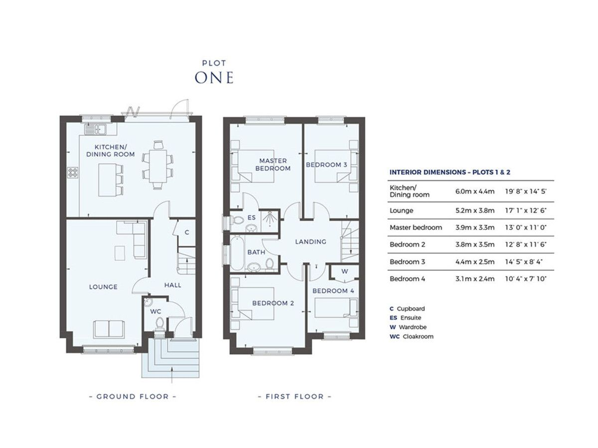 4 bed house for sale in Plot 1 Windrush Place - Property Floorplan