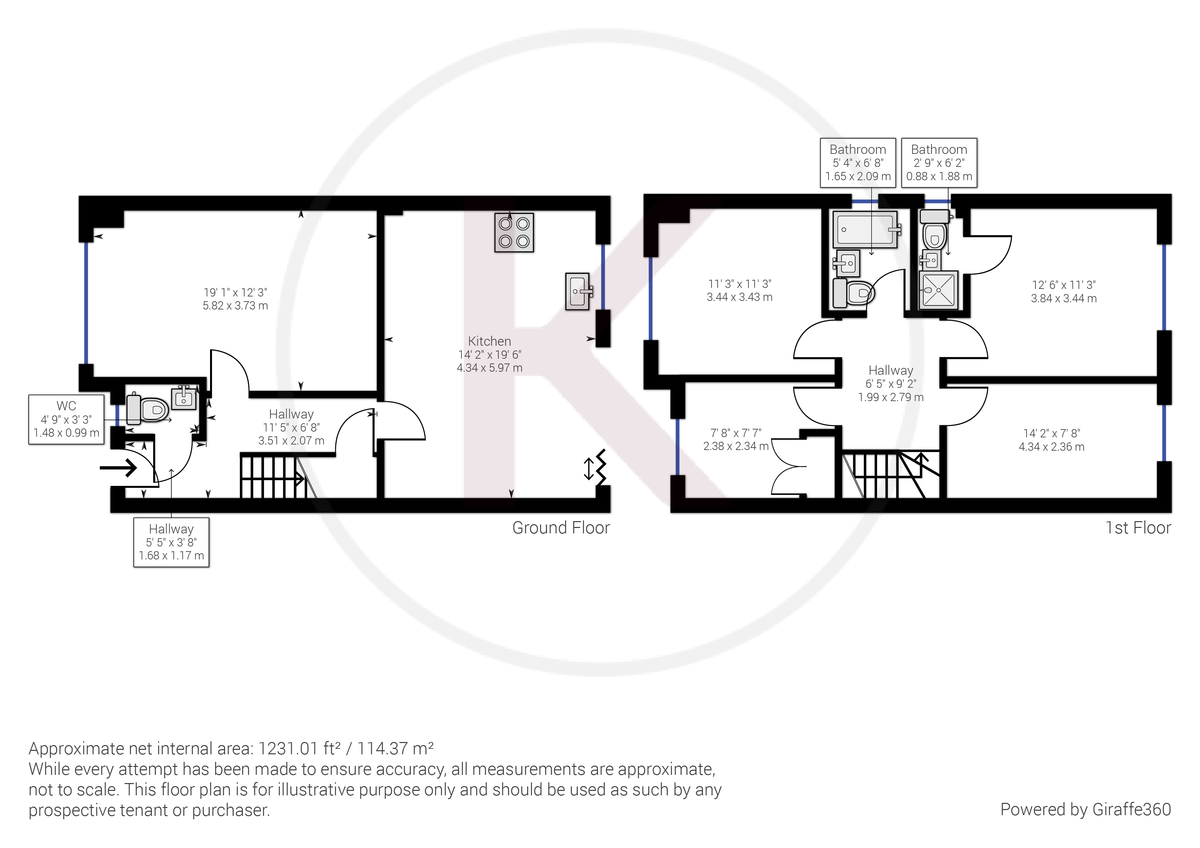4 bed house for sale in 61 Windrush Court - Property Floorplan