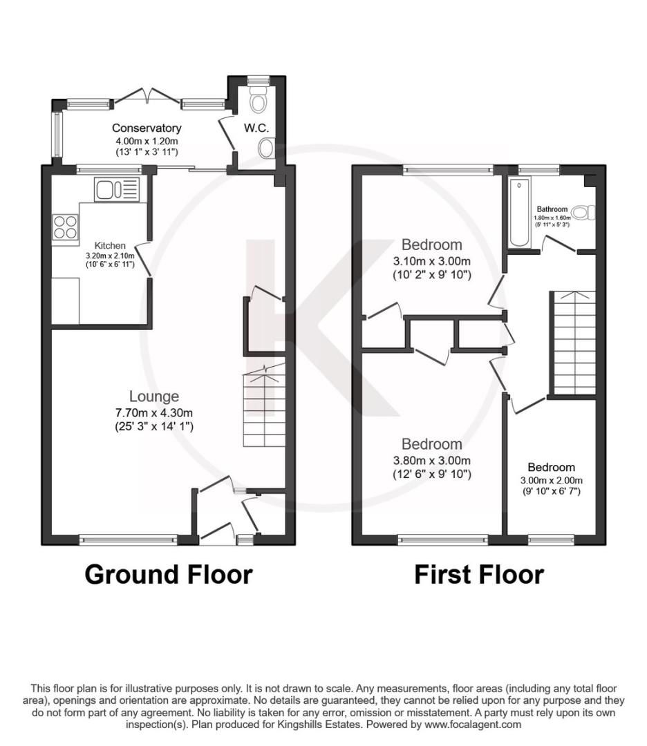 3 bed house to rent in Wellfield, Hazlemere, High Wycombe - Property Floorplan