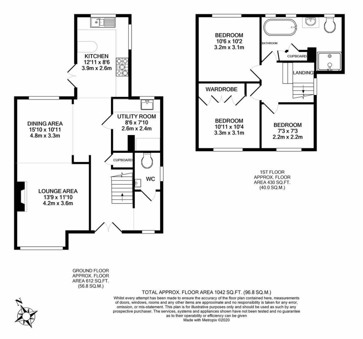 3 bed house for sale in Mount Close, High Wycombe - Property Floorplan