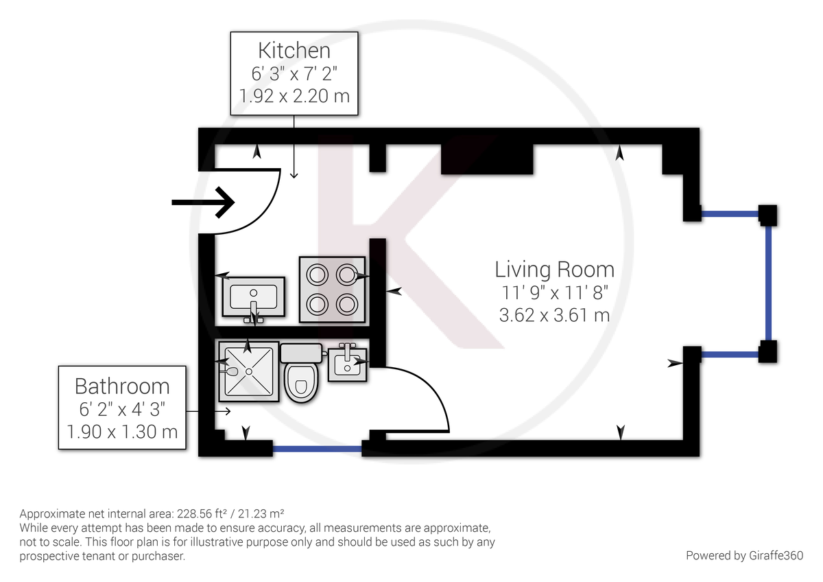 Flat to rent in Amersham Hill, High Wycombe - Property Floorplan