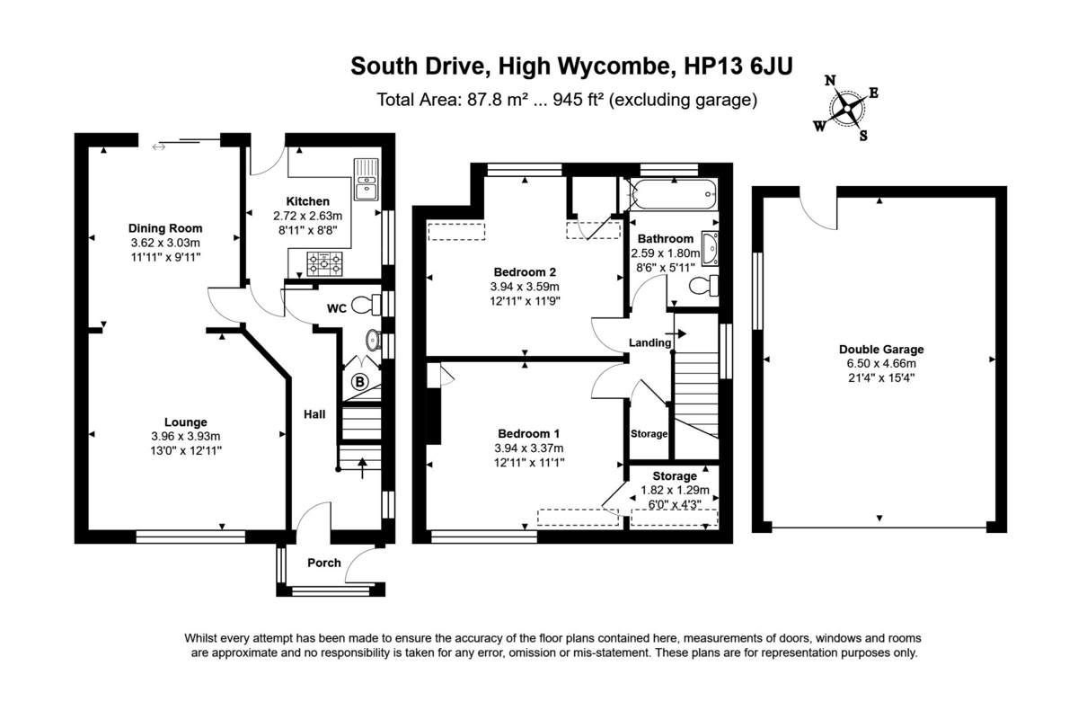 2 bed house for sale in South Drive, High Wycombe - Property Floorplan