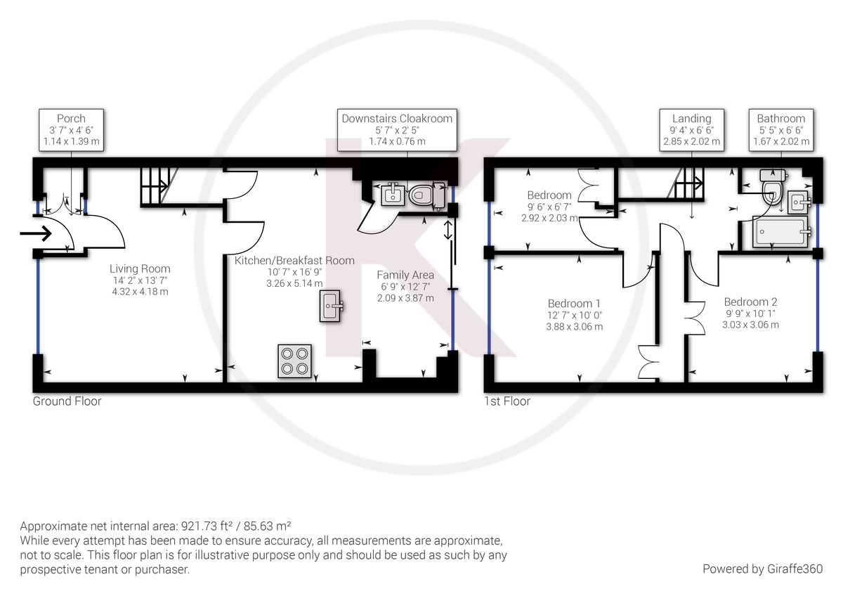 3 bed house for sale in Hawthorn Crescent, Hazlemere - Property Floorplan