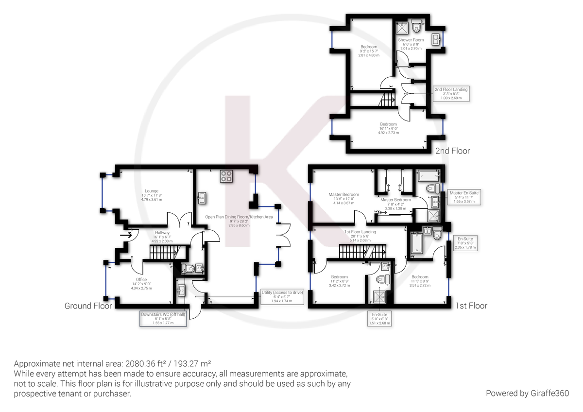 5 bed house to rent in Sierra Road, High Wycombe - Property Floorplan