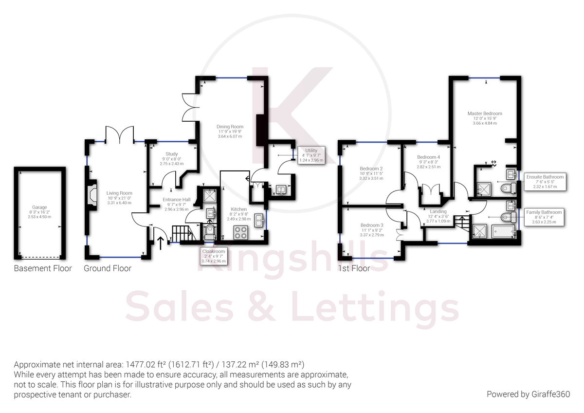 4 bed house for sale in Tennyson Road, High Wycombe - Property Floorplan