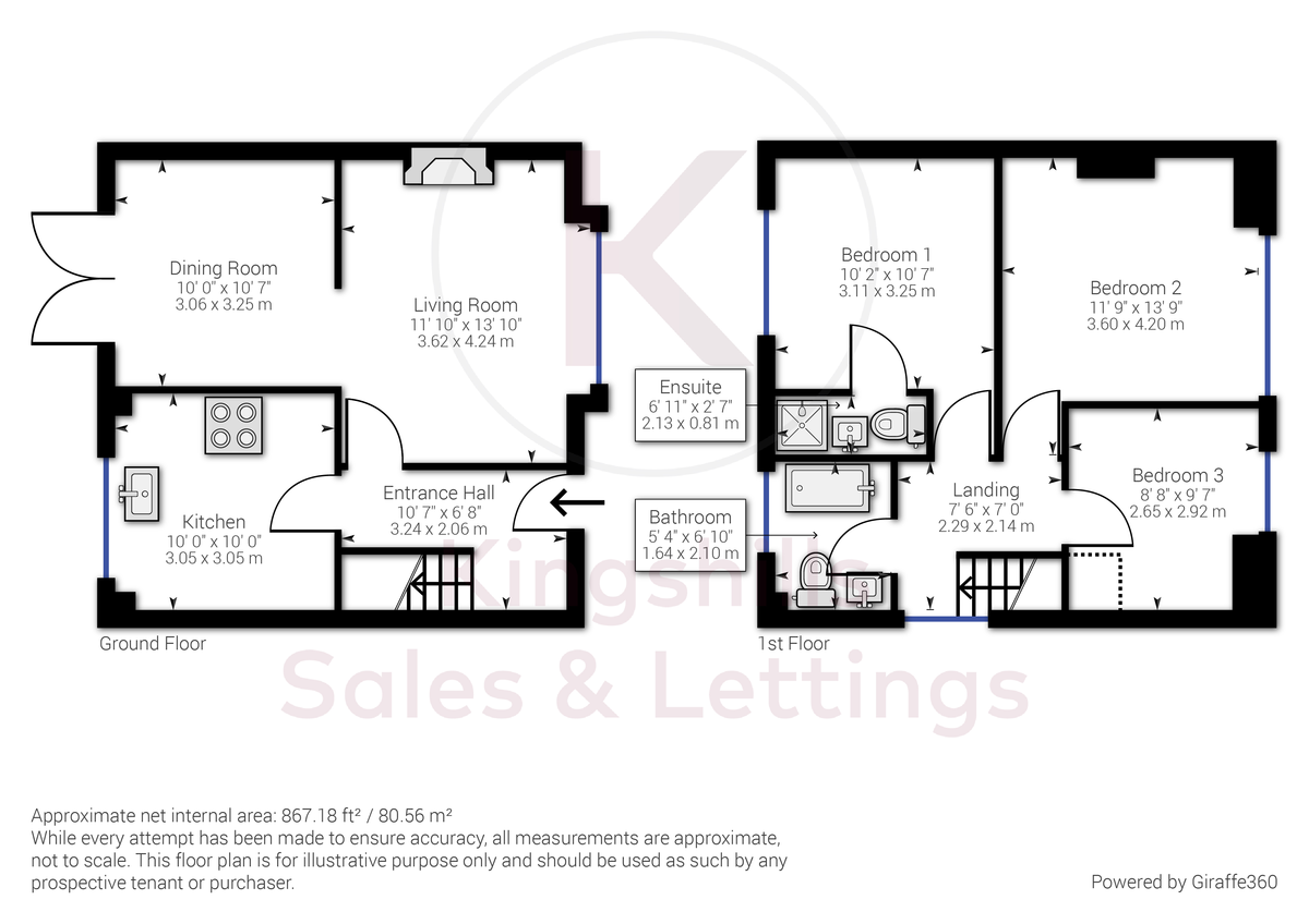 3 bed house for sale in Wingate Avenue, High Wycombe - Property Floorplan