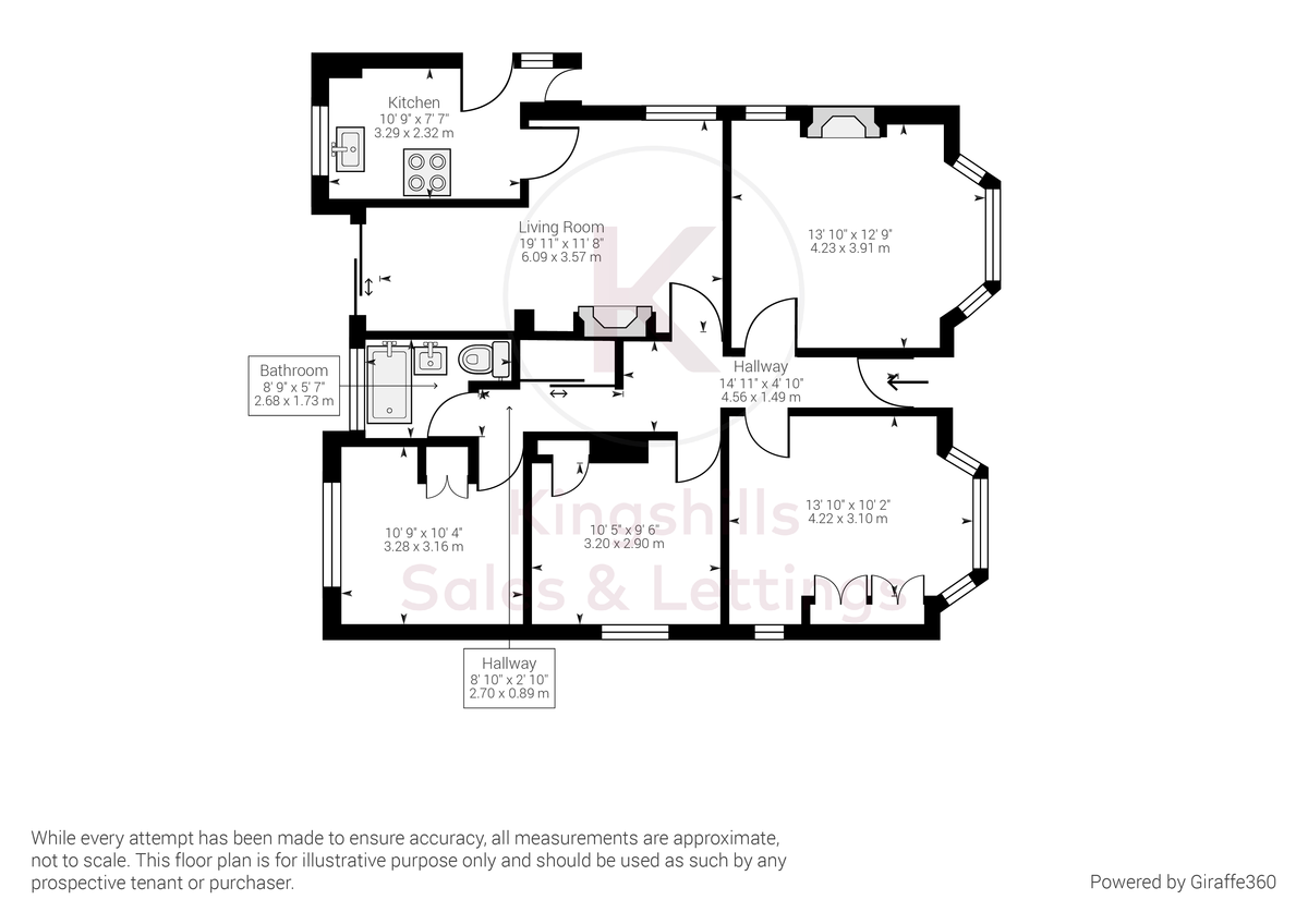 3 bed bungalow to rent - Property Floorplan