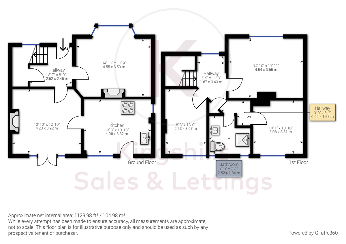 3 bed house to rent in London Road, High Wycombe - Property Floorplan