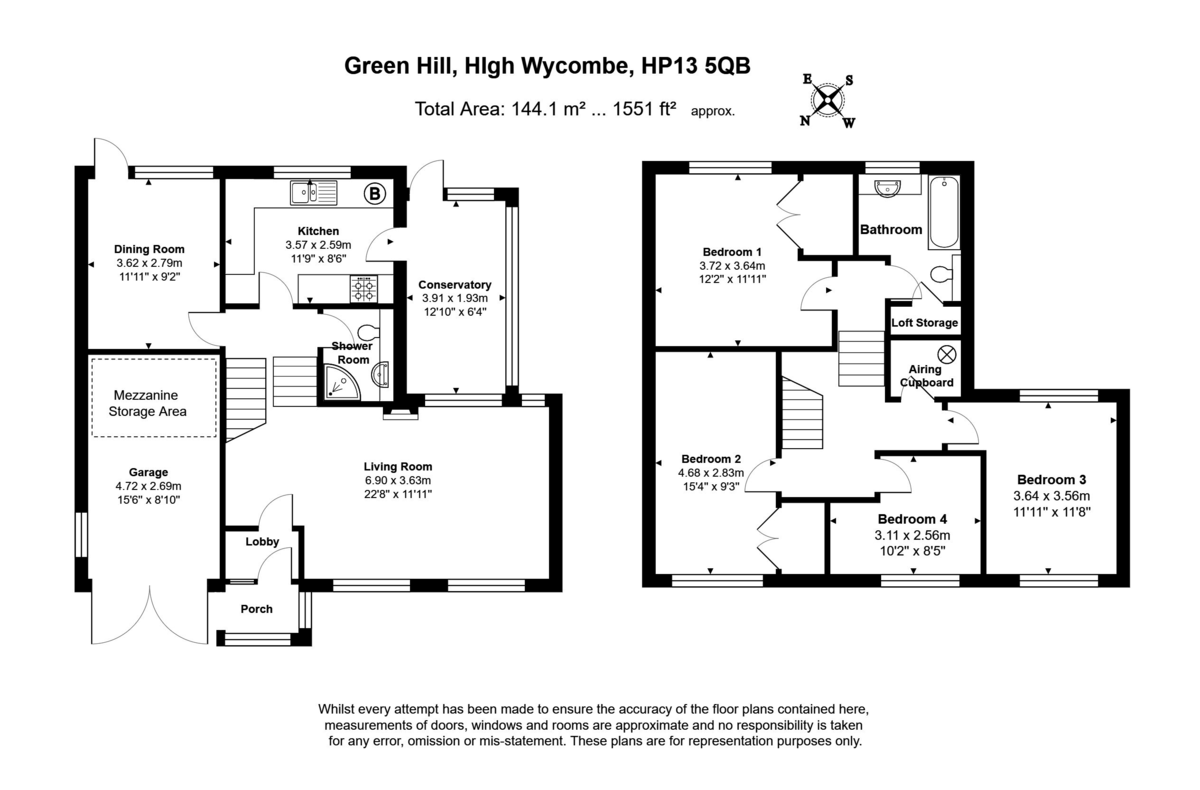 4 bed house for sale in Green Hill, High Wycombe - Property Floorplan