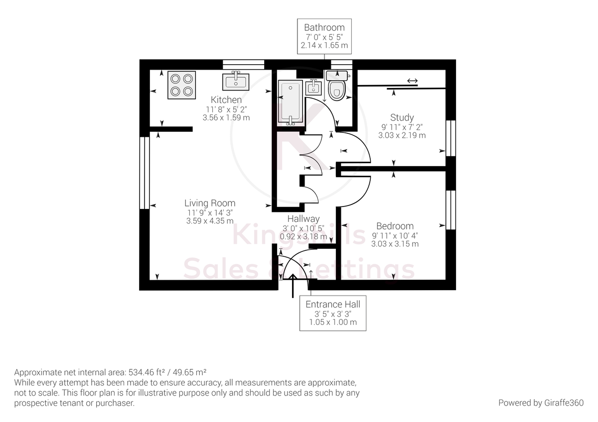 2 bed flat for sale in The Pentlands, High Wycombe - Property Floorplan