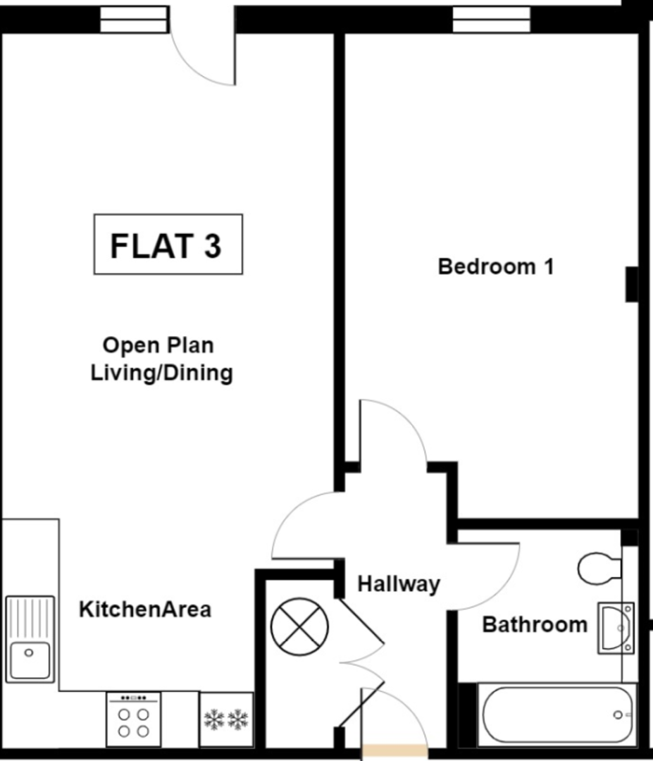 1 bed flat to rent in Kingsmead Road, High Wycombe - Property Floorplan