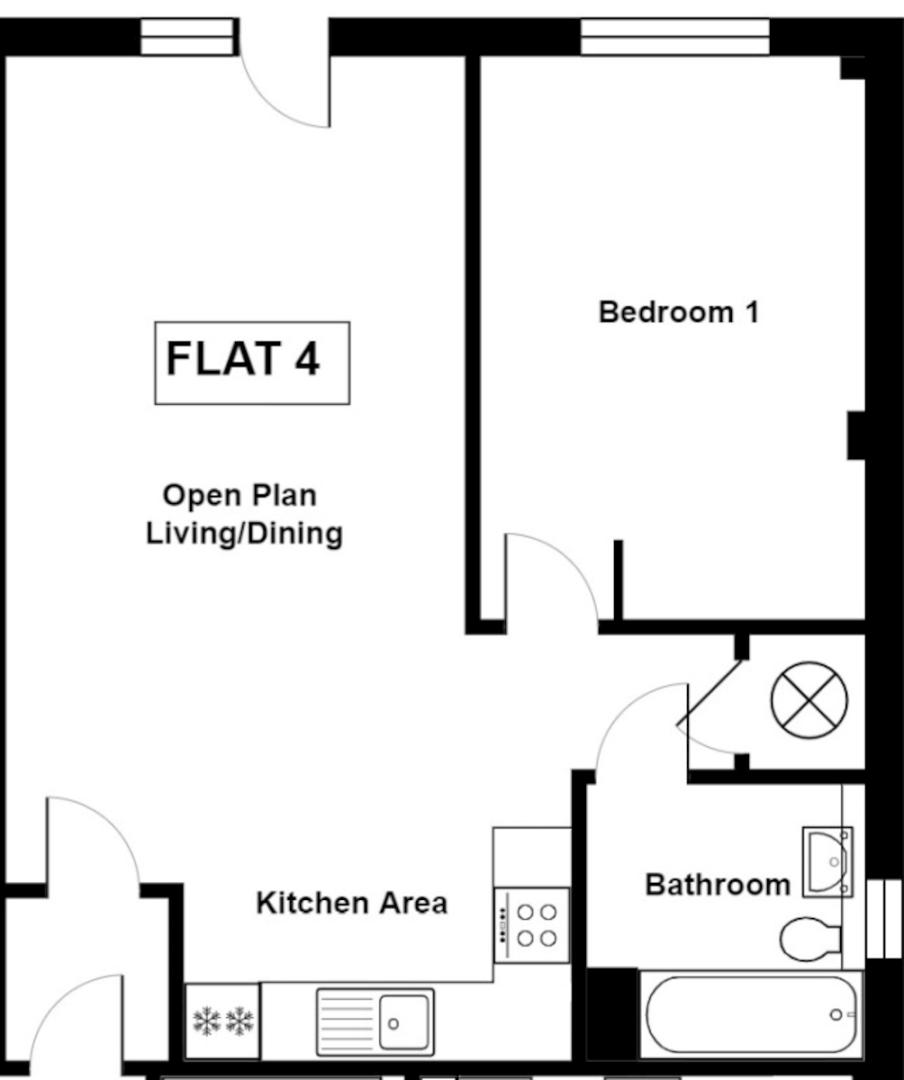 1 bed flat to rent - Property Floorplan