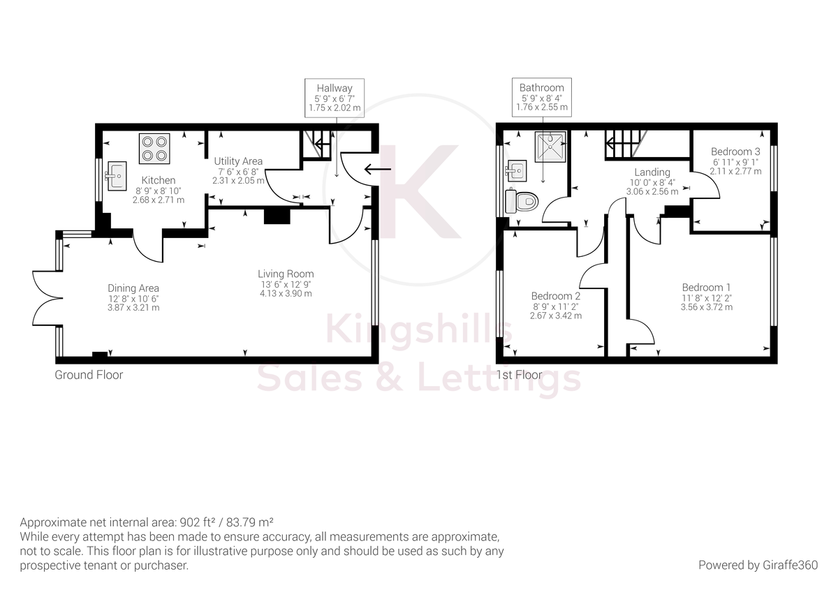 3 bed house for sale in Firs Close, Hazlemere, High Wycombe - Property Floorplan