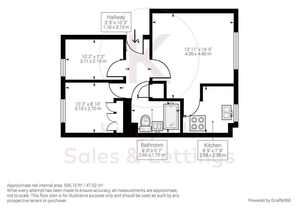 2 bed flat for sale in Princes Gate, High Wycombe - Property Floorplan