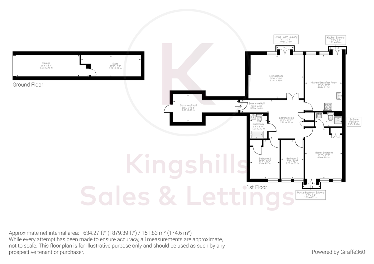 3 bed flat for sale in The Water Gardens, Hazlemere - Property Floorplan