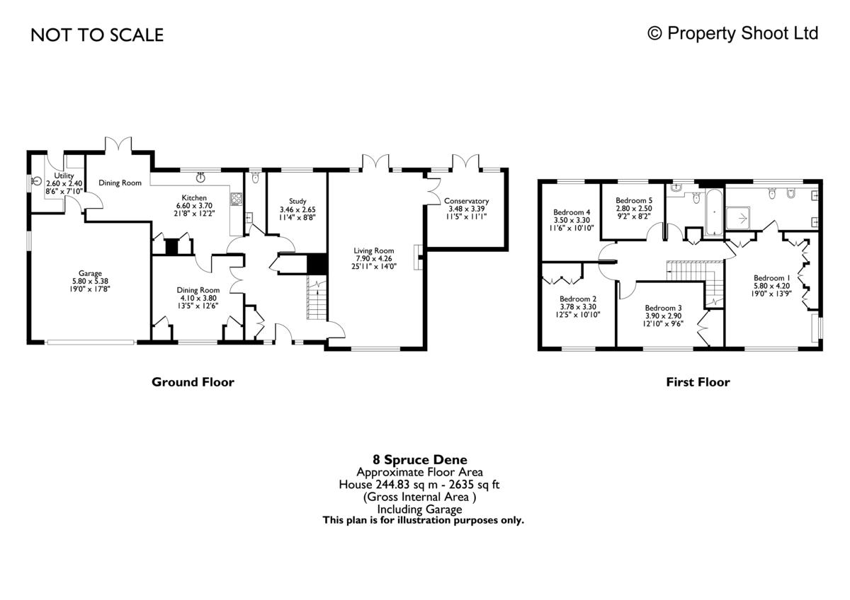 5 bed house for sale in Spruce Dene, Hazlemere - Property Floorplan