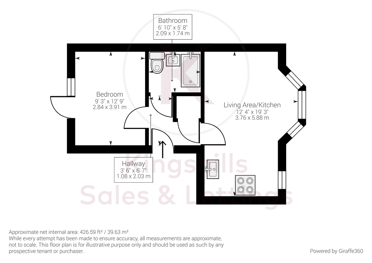 1 bed flat for sale in Ambassador Court, High Wycombe - Property Floorplan