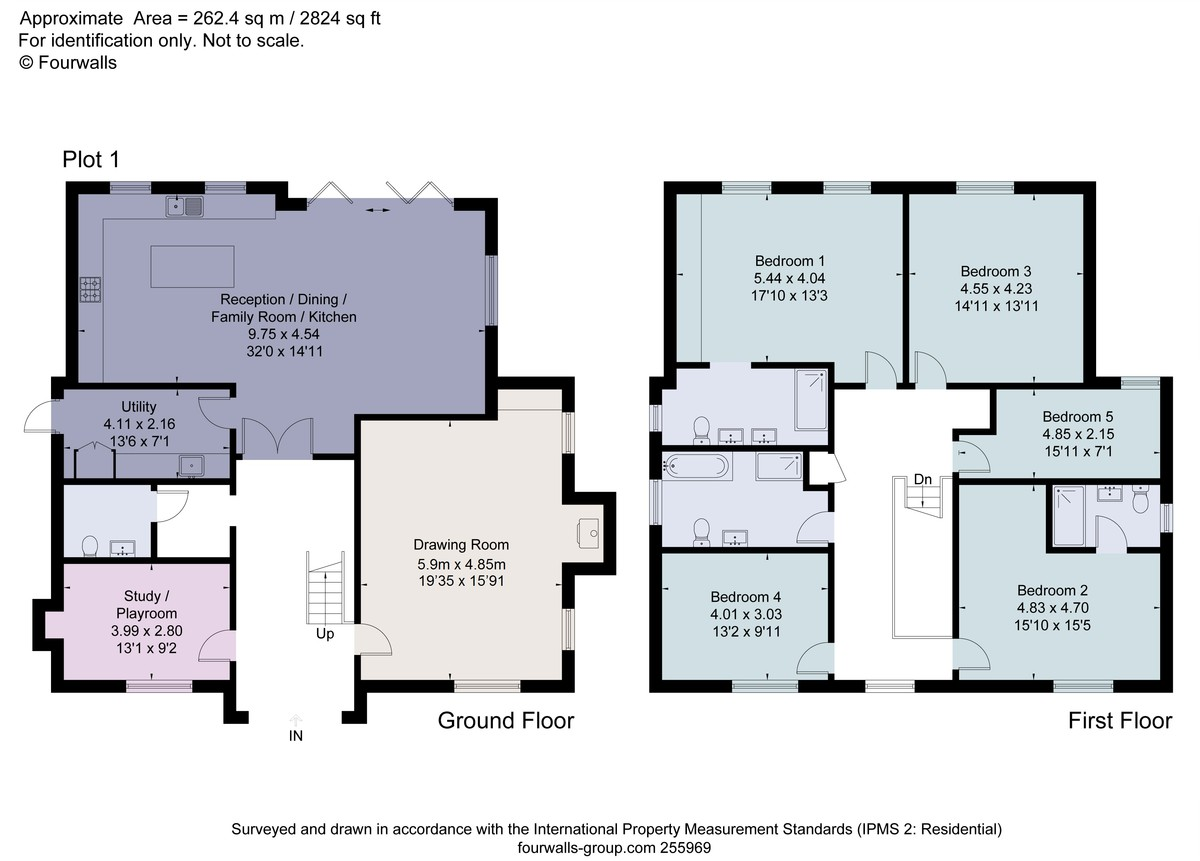 5 bed house for sale in Studridge Lane, Speen - Property Floorplan