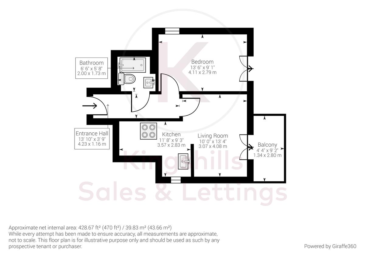 1 bed flat for sale in Diamond Court, Hazlemere - Property Floorplan