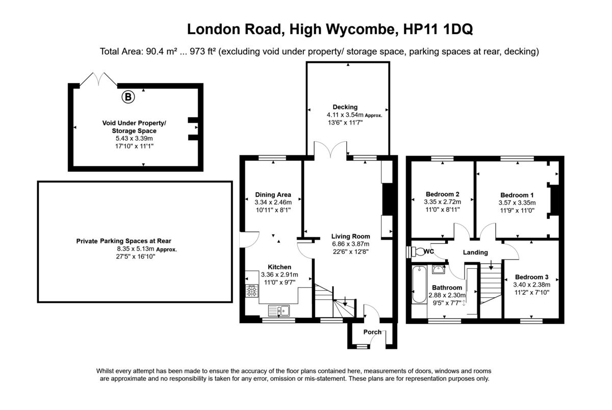 3 bed house for sale in London Road, High Wycombe - Property Floorplan