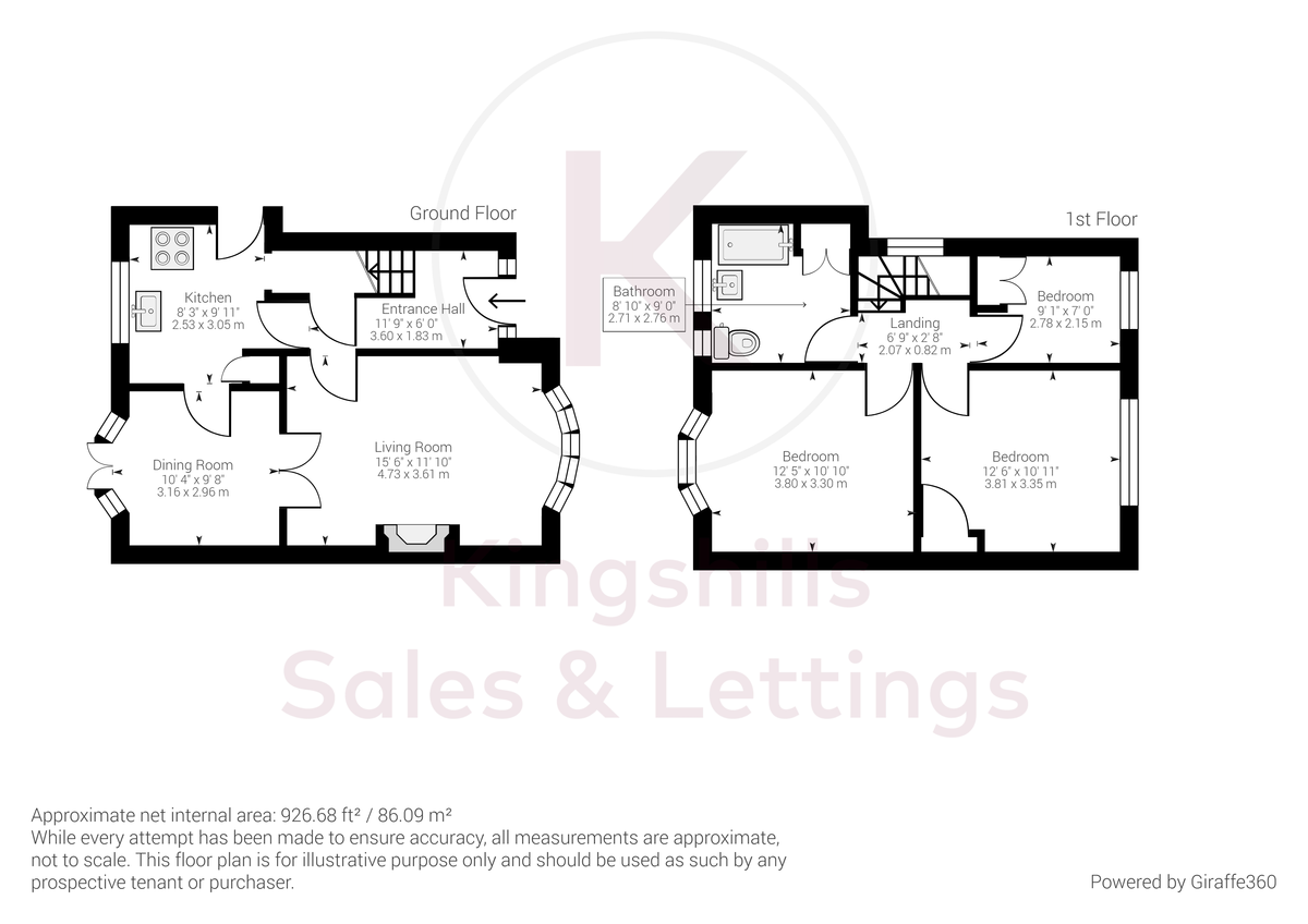 3 bed house for sale in Ashley Drive, Penn, High Wycombe - Property Floorplan