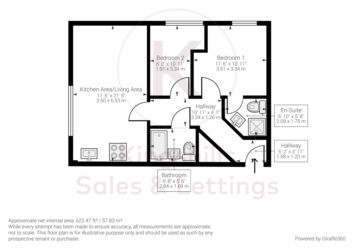 2 bed flat for sale in Andrews House, Tadros Court - Property Floorplan